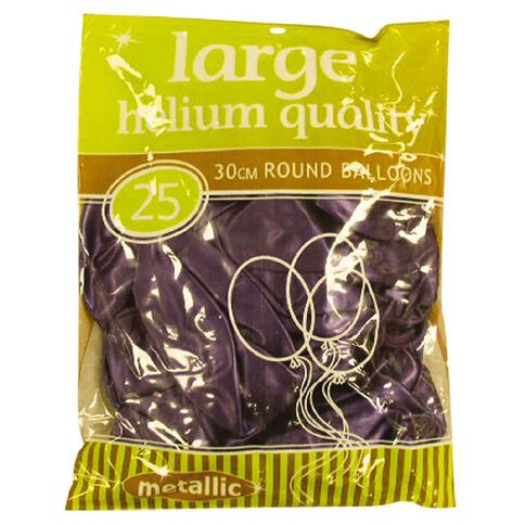 25 X 30cm Metallic Purple Balloons