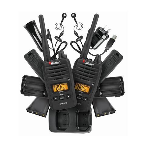 Uniden Uh820S Twin Pack Radio Black