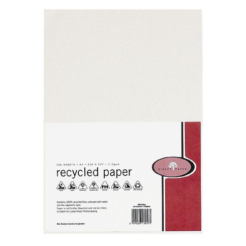 Recycled Paper 110gsm 100 Pack Avocado A4