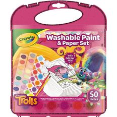 Crayola Trolls Washable Paint And Paper Set