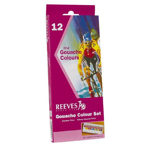 Reeves Acrylic Paint Set Gouache 12 Pack