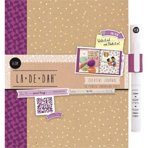La De Dah Journal & Glue Pen Glow Multi-Coloured