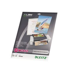 Leitz iLam Udt Lamination Pouches A3 125mic 25 Pieces Clear