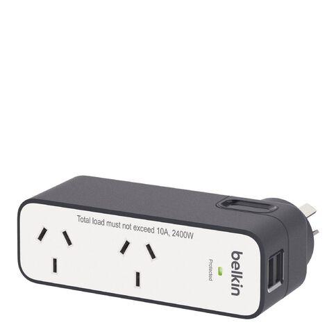 Belkin International Travel Surge Protector Dual 2.4A USB Ports