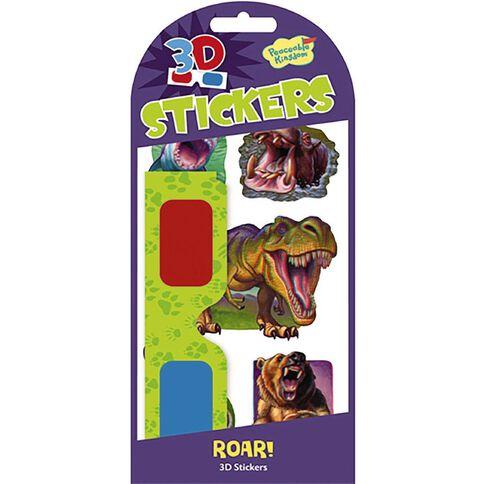 Peaceable Kingdom Stickers 3D Roar