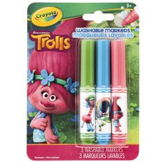 Crayola Trolls Pipsqueak Washable Markers 3 Pack