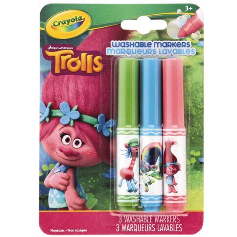 Crayola Trolls Pipsqueak Washable Markers 3 Pack