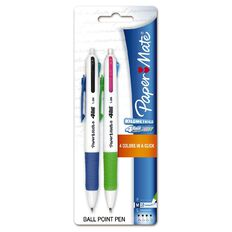 Paper Mate 4 Ball Pen Retractable Variety 2 Pack