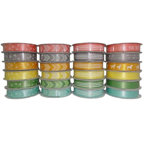 American Crafts American Craft Ribbon Value 24 Pack Amy Tangerine