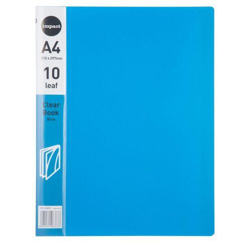 Impact Clear Book 10 Leaf Blue A4