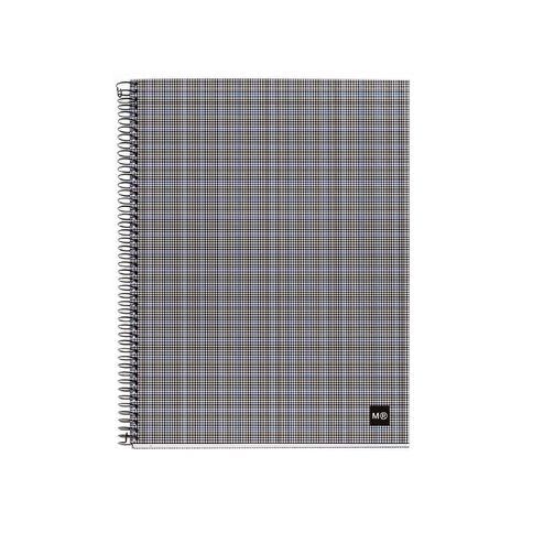 Miquelrius Notebook Tartan Spiral Grey A5