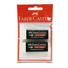 Faber-Castell Eraser 7085-20 Medium 2 Pack Hang-Sell White