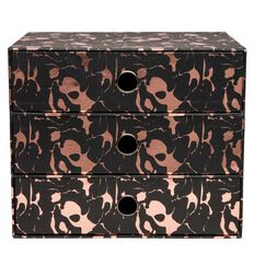 Uniti 3 Tier Storage Box Rose Gold A4