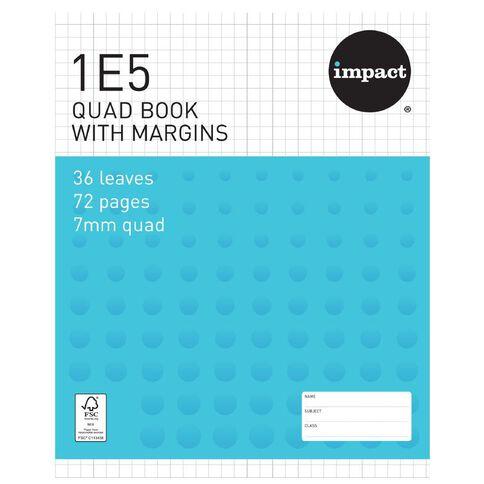 Impact Exercise Book 1E5 7mm Quad 36 Leaf Plus Margin