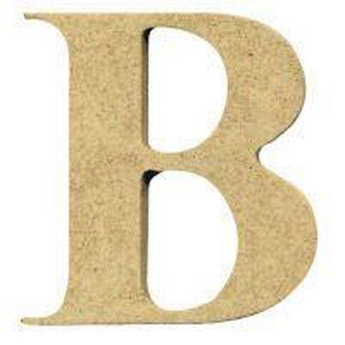 Sullivans Mdf Board Alphabet Letter 6cm B Brown