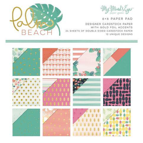 My Minds Eye Paper Pad 6X6 Palm Beach Gold Foil Multi-Coloured