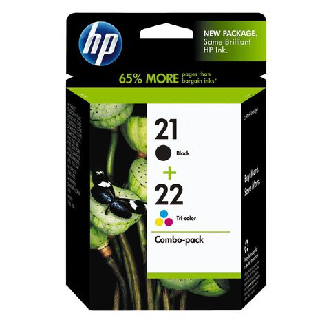 HP Ink Cartridge 21/22 Combo Pack Multi-Coloured
