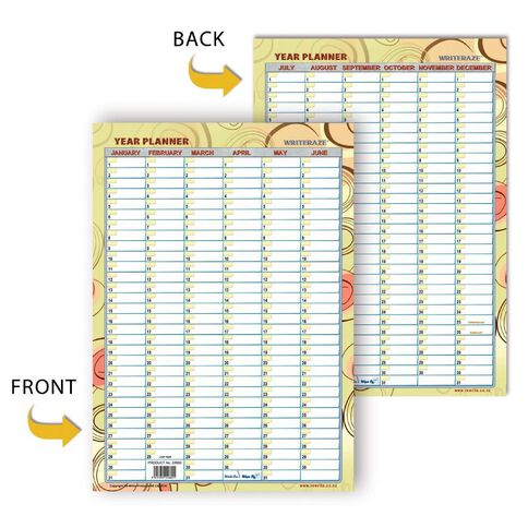 Whiteraze Perpetual Home/Family Planner 297 x 420mm Double Sided A3