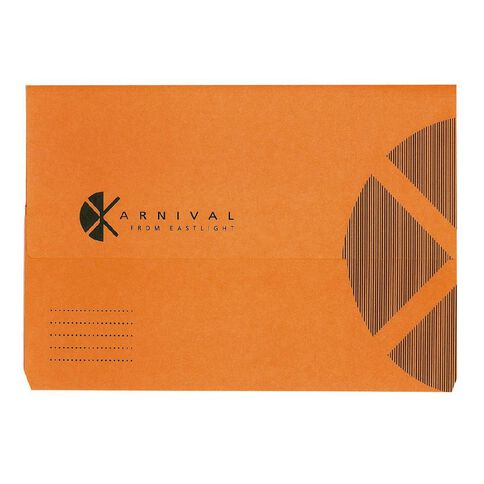 Document Wallet Foolscap Expanding Karnival Orange