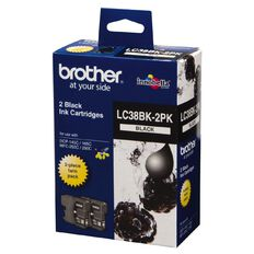 Brother Ink Cartridge LC38 2 Pack Black