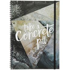 Banter Concrete Spiral Notebook A4