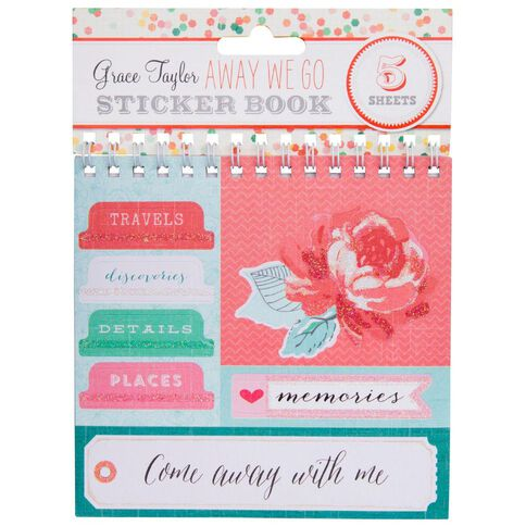 Grace Taylor Away We Go Sticker Flip Book Multi-Coloured