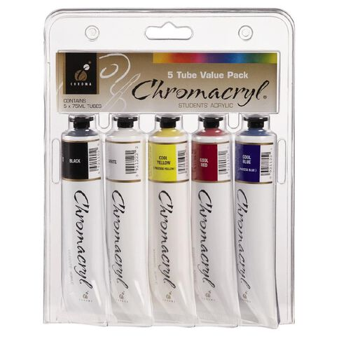 Chromacryl Students Acrylic Tube Set 5 x 75ml