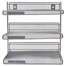 Impact Mesh 3 Tier Shelf Pewter Multi-Coloured