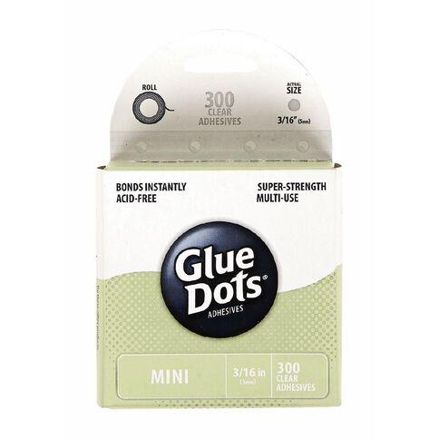 Glue Dots Mini 300 x 0.5cm Dots Clear