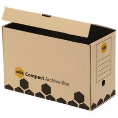 Marbig Archive Boxes Compact 5 Pack Wrapped Brown