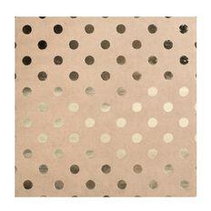Bazzill Cardstock 12 x 12 Spots Kraft Gold