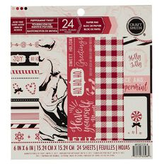Craft Smith Christmas 2017 Paper Pad 6in x 6in Assorted