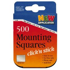 Scrapbook Adhesives Mounting Squares Dispenser White