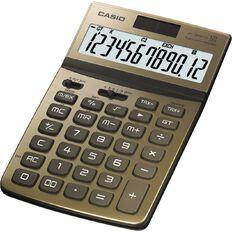 Casio Stylish Desktop Calculator Jw200Twgd Gold