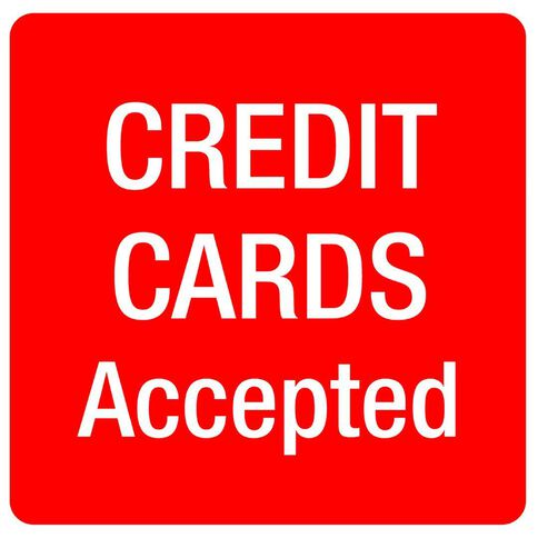 Alpi Self Adhesive Credit Cards Accepted Red/White
