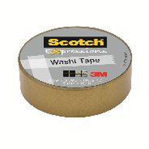 Scotch Washi Craft Tape 15mm x 10m Gold