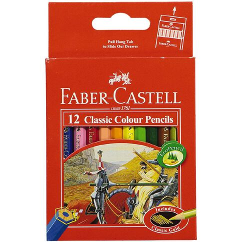 Faber-Castell Coloured Pencils Classic Half 12 Pack