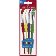 Faber-Castell Grip Paint Brush 4 Pack