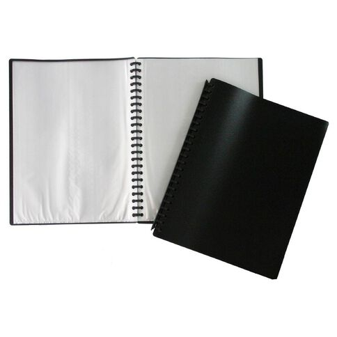 Refillable Clearbook 20 Leaf Black A4
