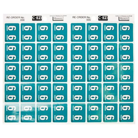 Filecorp Coloured Labels 6 Green