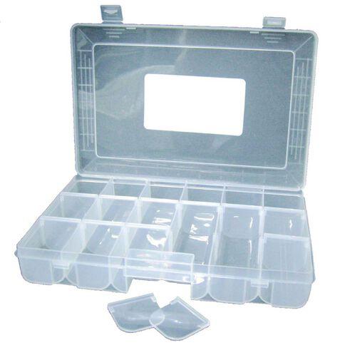 Sullivans Storage Box Plastic 18 Slot Clear