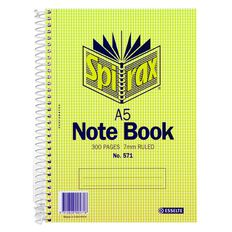 Spirax Notebook Spiral Carboard 300 Pages A5