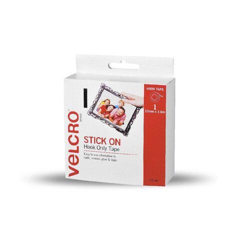 VELCRO Brand Hook Only Strip 25mm x 3.6m White