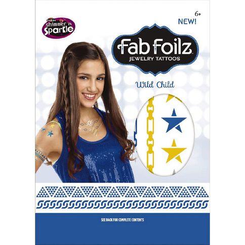 Shimmer 'n Sparkle Fab Foilz Tattoos Envelope Package 4in x 7.25in