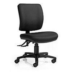 Dawell Epee 3L Highback Chair Non-Click Back Black