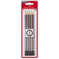 Faber-Castell Eleganz Rubber Tip 2B Pencil 5 Pack Multi-Coloured
