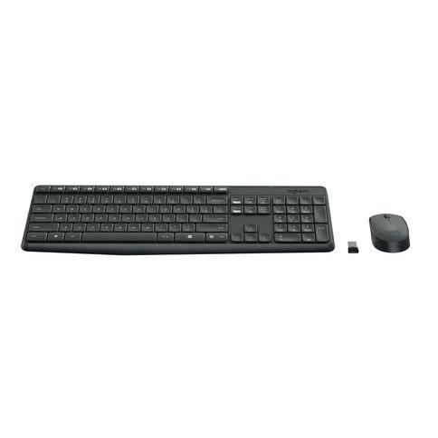 Logitech MK235 Wireless Keyboard and Mouse Combo Black