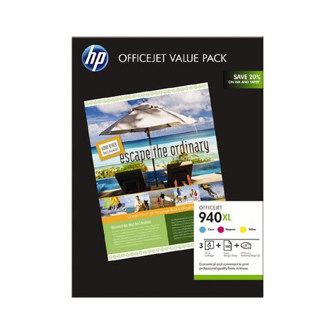 HP Ink Cartridge 940XL Photo Value 3 Pack Multi-Coloured