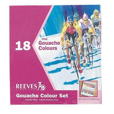 Reeves Acrylic Paint Set Gouache 18 Pack