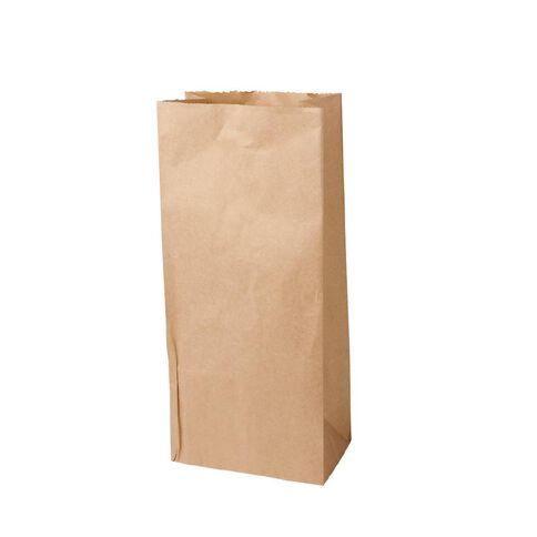 Unibag Paper Bags Block Bottom #5 205 x 125 x 450mm 200 Pack Brown